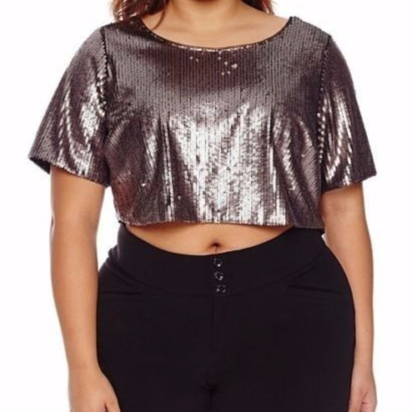 7fe76c848fa82e Ashley Nell Tipton for Boutique Scuba Crop top